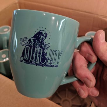 Help bring Juan Diego to the Marian Center and get a Cause of Our Joy exclusive coffee mug!